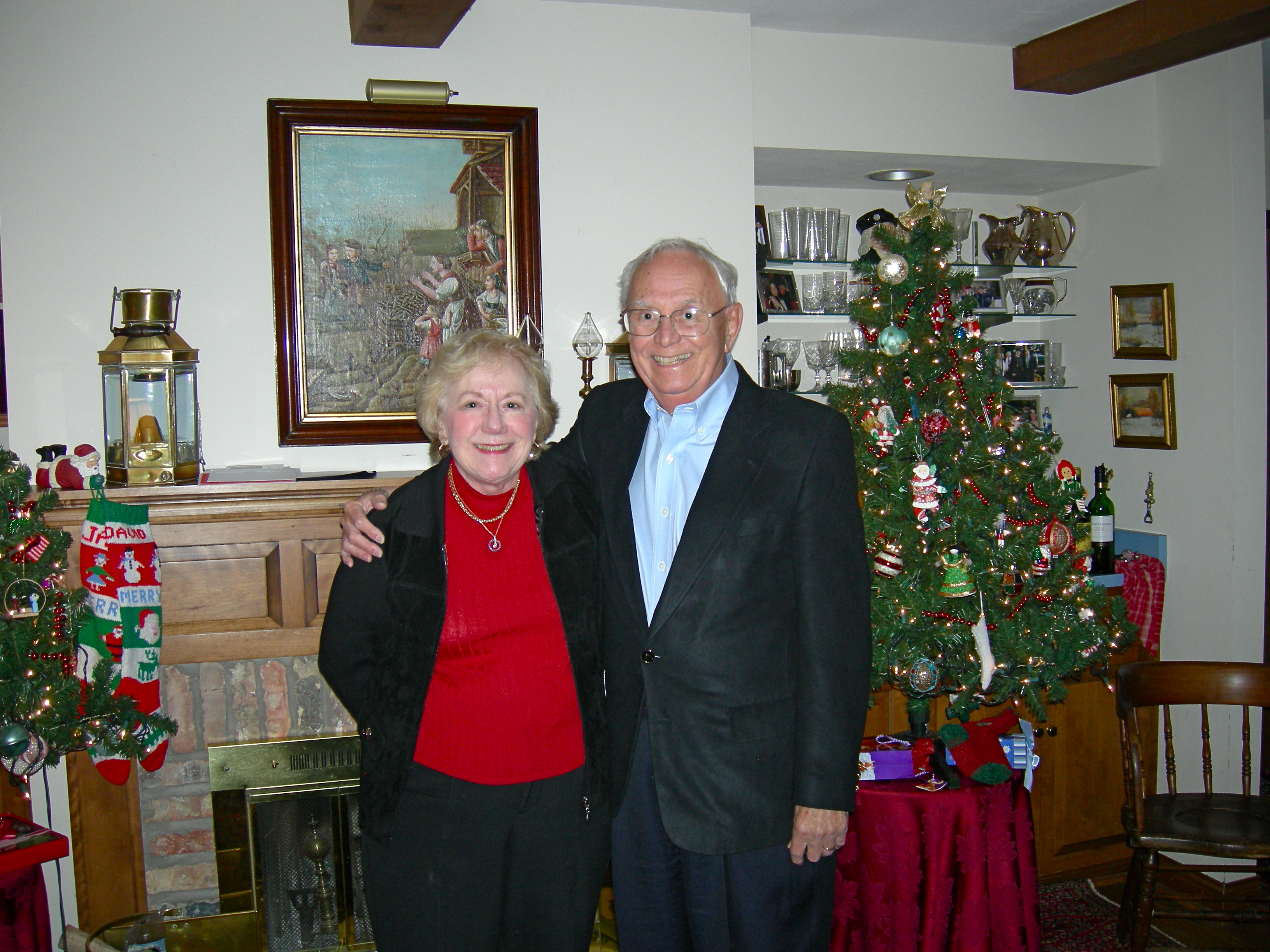 Grandma and Grandpa at Aunt Pam's