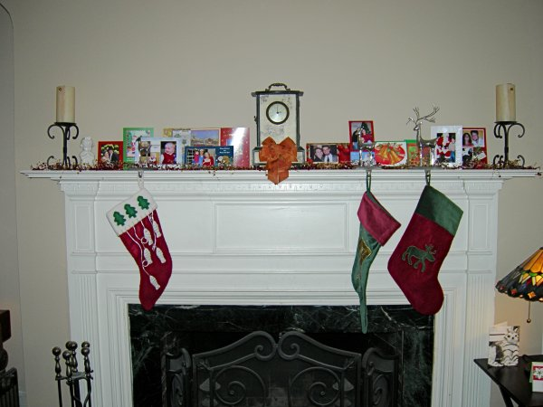 the stockings were hung by the fireplace with care...