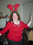 Oh look!  A reindeer visited on Christmas Eve!  JAZZ HANDS!