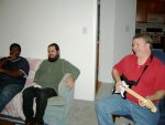 Shep, Ben, and Jeff playing Rock Band