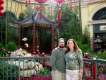 Bellagio: Ben and Cynthia in front of a pagoda.