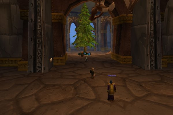 Christmas in IronForge: Christmas Tree in the Hall of Explorers