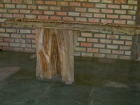 buffet table from a tree trunk