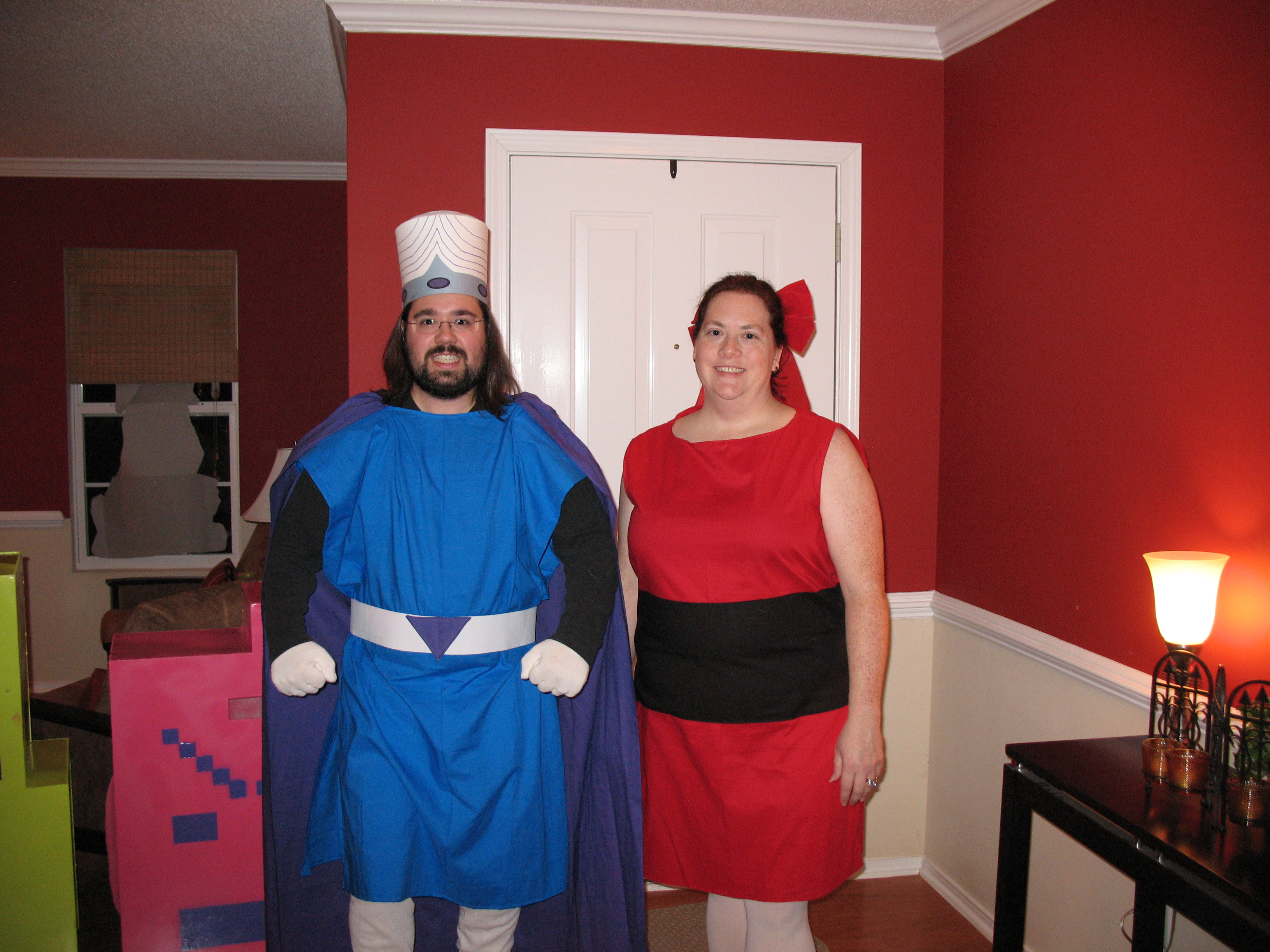 Mojo Jojo and Blossom from the Powerpuff Girls