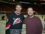 Ben posing with Justin Williams