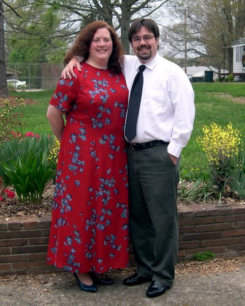 Cynthia and I in our Sunday Best