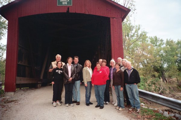 Group at the Covered Bridge