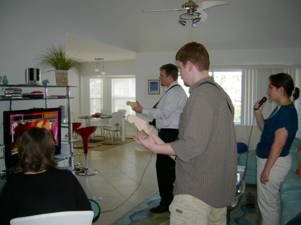 Playing Rock Band (2)
