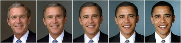 George Bush to Obama Morph