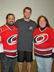 Ben and Cynthia with Cam Ward