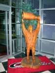 Rod Brind'amour Carving in the RBC Center Lobby