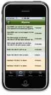 OpenNMS iPhone App: Alarm List