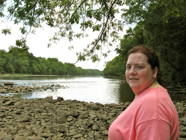 Cynthia with the Pee Dee river in the background