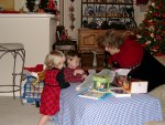 Stephanie, Cameron, and Grandma