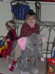Cameron got a huuuuge elephant to ride!