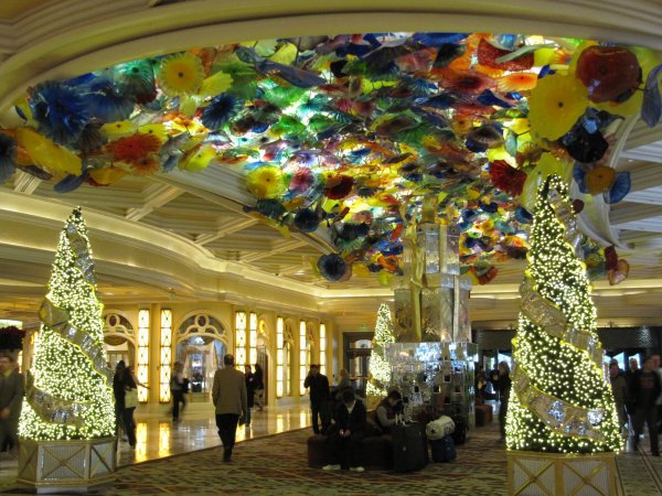 the Bellagio main lobby
