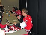 Jussi Jokinen in the autograph line