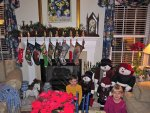 Cameron and Stephanie, and the stockings and snowmen people