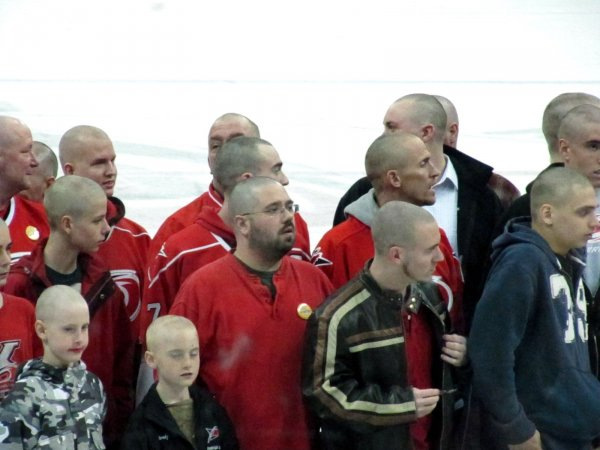 look at all those bald folks