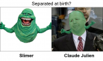 Separated at birth?  Claude Julien and Slimer
