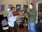Ash and Jason -- dueling chainsaws