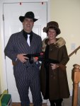 Bonnie (Tracy) and Clyde (Carl)