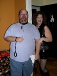 Bill (the Gimp) and Heather (the dominatrix)
