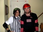 Jason (Carolina Rollergirl) and Danine (referee)