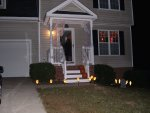 Hickory Hill, decorated for Halloween
