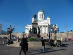 Alexander II statue outside of the Helsinki Cathedral.