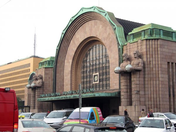 the main Helsinki train station, right by our hotel