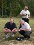 32. Stace, Curt and Billy, checking out the mini-RC plane