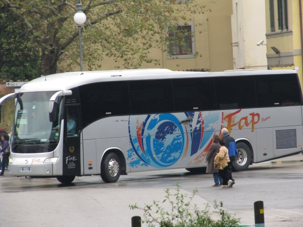 In Lucca, Italy: the FAP bus.