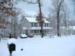 our house in a winter wonderland