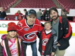 Stephanie, Cameron, and Ben with Zach Boychuk