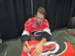 Tuomo Ruutu signing our flag