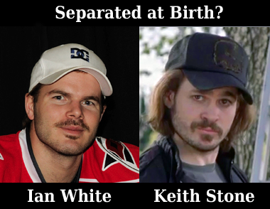 Separated at Birth?  Ian White & Keith Stone