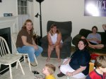 Chrissy, Rachel, Heather, and Janell (and Eamon playing games)