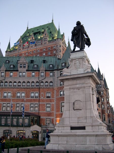 Quebec City - The chateau at dusk.