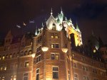 Quebec City - The chateau at night.