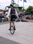 Quebec City - Jumping rope on a unicycle.
