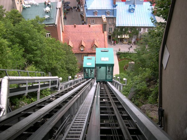 Quebec City - The funiculaire.
