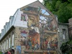 Quebec City - Very cool mural on the side of a building.