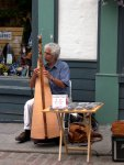 Quebec City - A harpist in old Quebec.