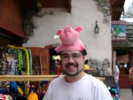 No, I didn't buy the piggy hat.