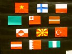 origami from around the world (flags)