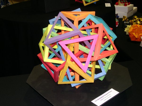 Six intersecting Pentoprisms, designed by Daniel Kwan, folded by ... | 450x600