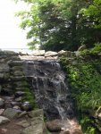 A nice little fake waterfall by the Blowing Rock visitor center.