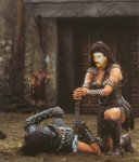 Luke as Xena, Warrior Princess