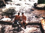 Brad Carius and I in the river